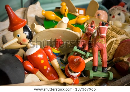Old toys - stock photo