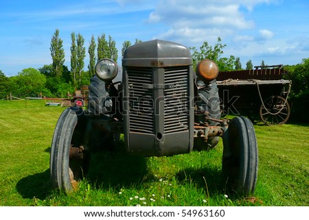 Old tractor - stock photo