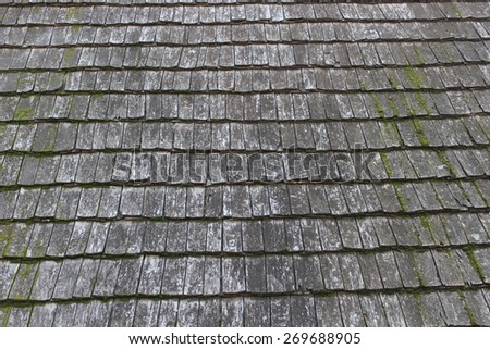 Old Traditional wooden roof - stock photo