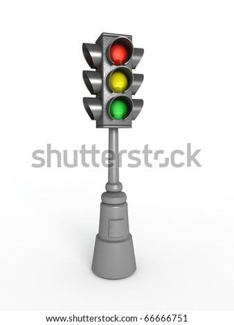 Old traffic lights. - stock photo