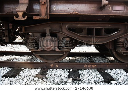 old train - stock photo