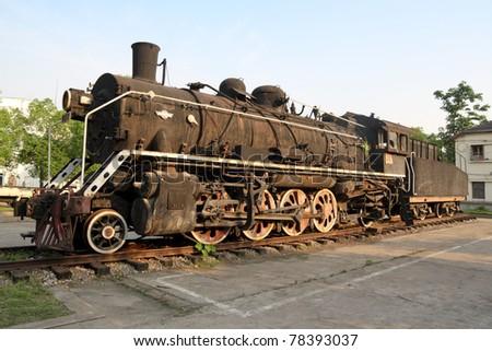 old train - stock photo