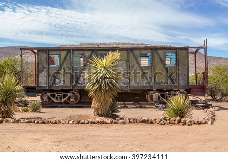 Old Train Car - stock photo
