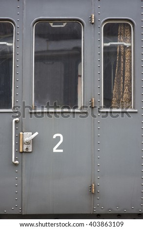 Old train car door - stock photo