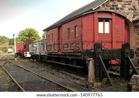 Old Train Carriages on old Steam Railway