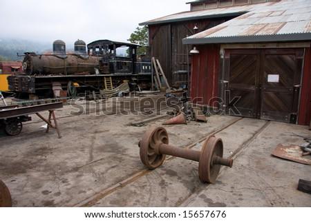 Old Train Shop - stock photo