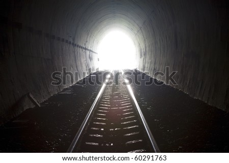 Old train tunnel and natural light.