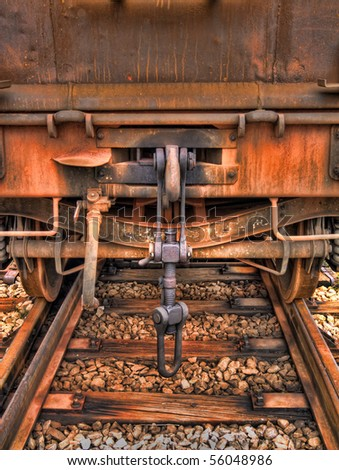 Old train waggon. - stock photo