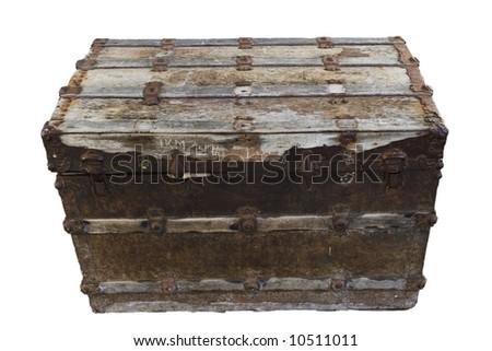 Old treasure chest - stock photo
