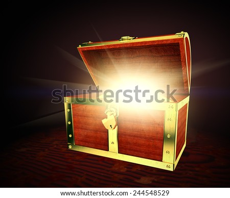 Old treasure chest - stock photo