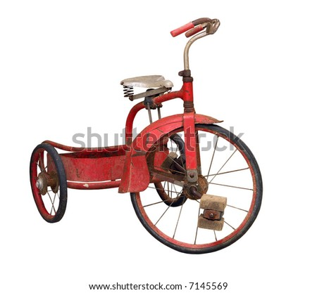 Old Tricycle - stock photo