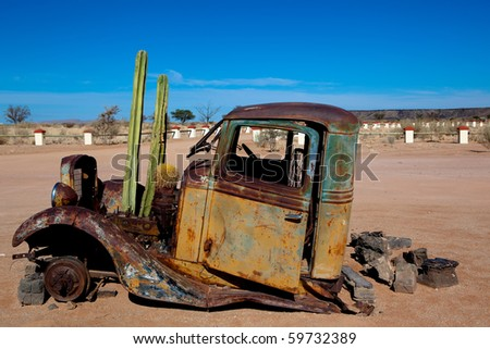 Old Truck with cactus