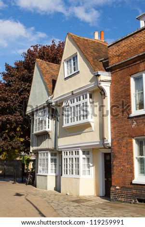 Old tudor and elizabethan homes in Faversham in Kent in England