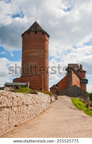 Old Turaida castle in Sigulda - stock photo