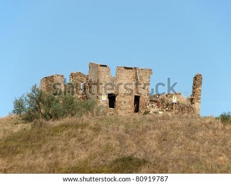 Old tuscan farmhouse, Italy - stock photo