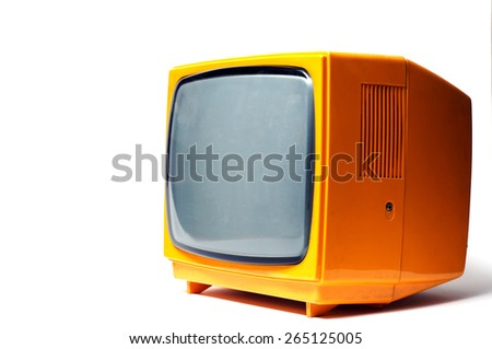 Old TV. - stock photo