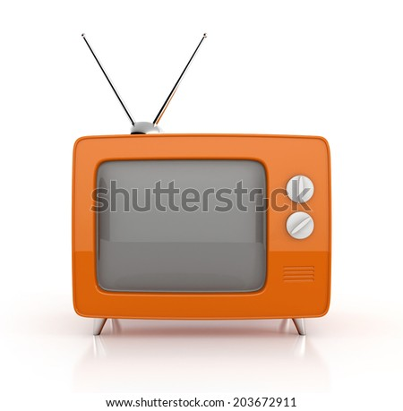 old tv. 3d illustration isolated on white background