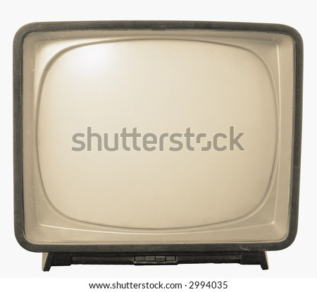 Old TV with black and white screen. Retro Television concept