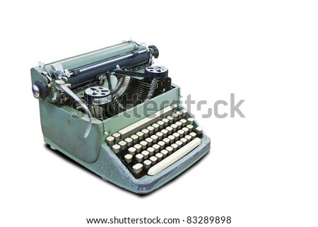 Old type device isolated on white background with clipping path - stock photo