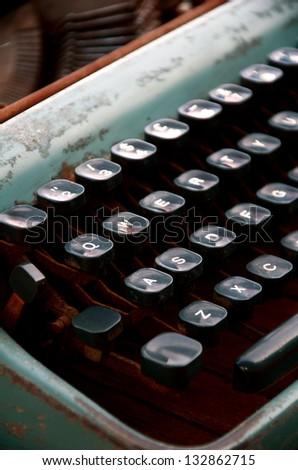 Old Typewriter. - stock photo