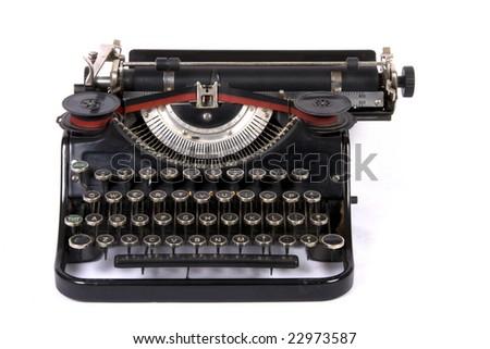 Old typewriter on isolated background - stock photo
