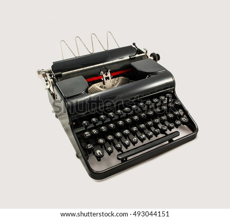 old typewriter with cyrillic letters