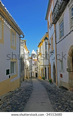Old typical street of a south of portuguese village