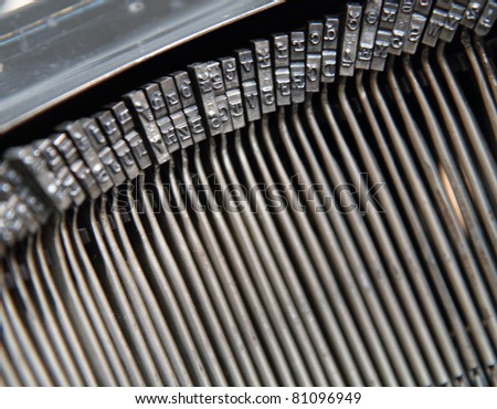old typing machine background - stock photo