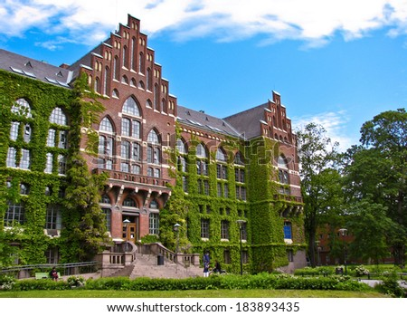 old university building in Lund, Sweden - stock photo