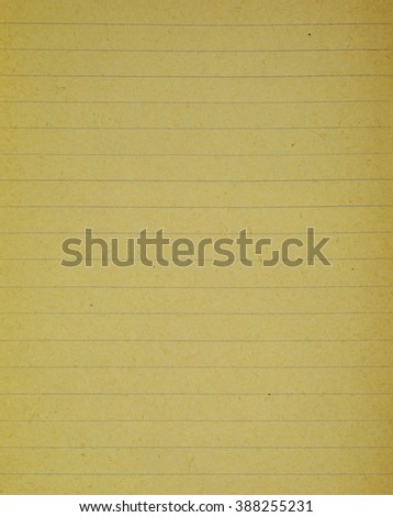 Old, used lined paper - stock photo