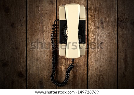 old used phone  - stock photo