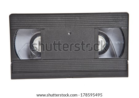 old VHS cassete close-up