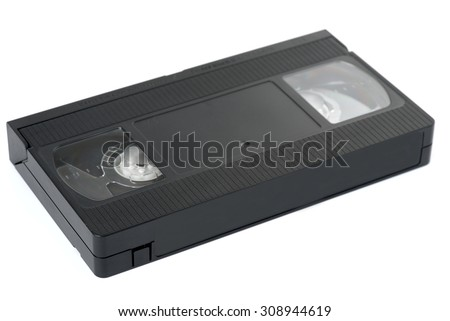 Old VHS video cassette tape  - stock photo
