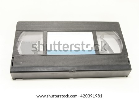 Old VHS Video tape isolated on white background - stock photo