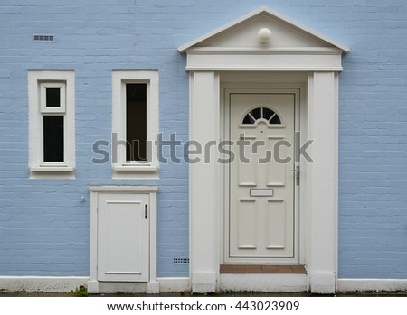 Old victorian entrance - stock photo