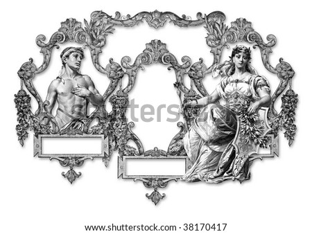 Old Victorian Frame And  Man and Woman