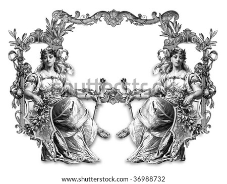 Old Victorian Frame and Two Woman