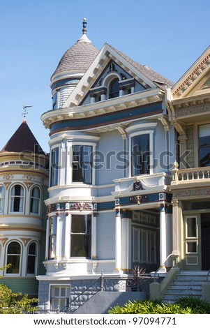 Old victorian house in San Francisco - stock photo