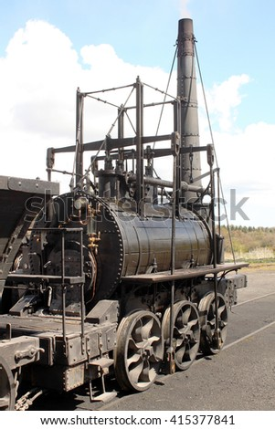 Old Victorian Steam Locomotive
