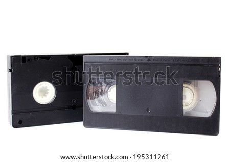 Old Video Cassette  isolate on white background .  - stock photo