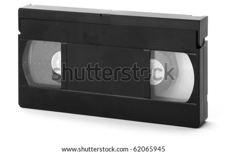 Old Video Cassette Tape isolated on white