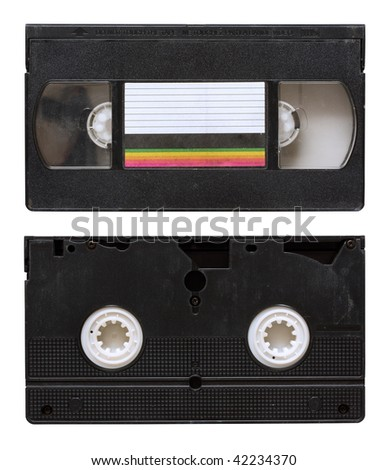 old video tape isolated on white background with clipping path