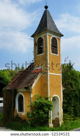 Old village chapel-Steiermark,Austria. - stock photo