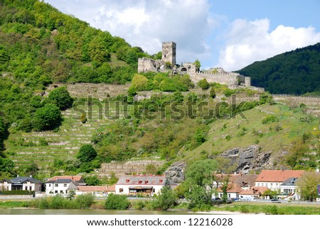 old village Spitz in Danube valley,Austria - stock photo