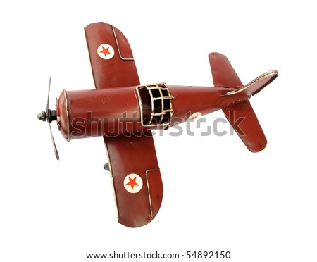 Old vintage airplane toy - stock photo