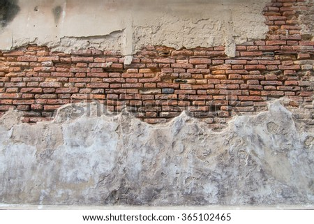 Old, vintage and antique brick and cement texture and background