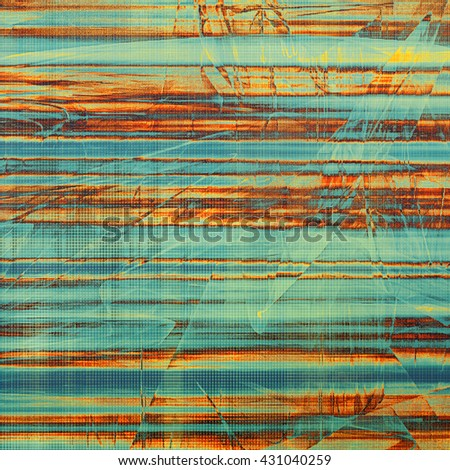Old vintage backdrop. Original background or aged texture with different color patterns: yellow (beige); blue; red (orange); cyan - stock photo