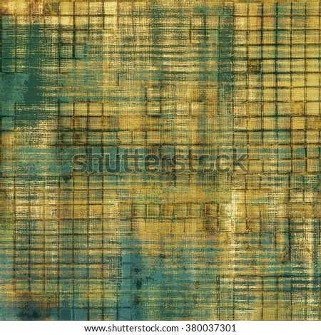 Old vintage background with retro-style elements and different color patterns: yellow (beige); brown; green; gray; blue - stock photo