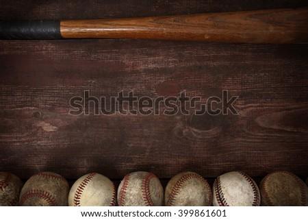 Old vintage baseball background - stock photo