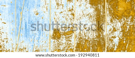 Old vintage blue and brown natural wood or wooden texture background, conceptual backdrop pattern made of timber panel surface as concept or metaphor to material, structure, grungy, weathered or aged - stock photo